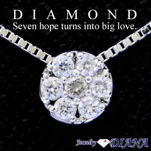 DIAMOND SEVEN HOPE TURNS INTO BIG LOVE. NECKLACE<br><font size=