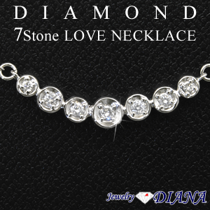 DIAMOND 7STONE LOVE NECKLACE<br><font size=