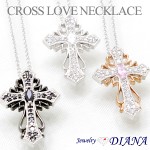 CROSS LOVE NECKLACE<br><font size=